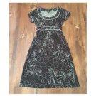 Merona Brown Floral Knee Length Dress (S)