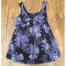 NY and Co. Purple Paisley Sleeveless Blouse (M)