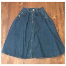 Vtg. 90s Jordache Studio Full Denim Skirt (12)