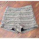 CALS Tan Crochet Short Shorts (S)