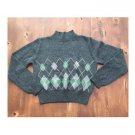 Old Navy Gray Argyle Wool Blend Sweater (M)
