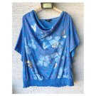 Style & Co. Blue Floral Graphic Top (L)