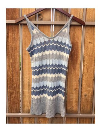No Boundaries Chevron Knit Tank Top (S)