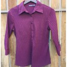 Apt. 9 Stretch Button Down Textrued Blouse (S)
