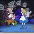 Alice Wonderland Hand Signed Walt Disney Sericel Cel Tulgey Woods Marc Davis