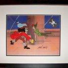 Captain Hook Peter Pan Sword Hand Signed Walt Disney Sericel Cel Jolly Roger