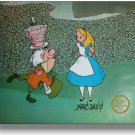 Alice Wonderland Hand Signed Walt Disney Sericel Cel FREE background MARC DAVIS