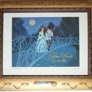 """DELUXE FRAME hand signed """"REAL"""" Cinderella 1950 Disney Voice Ilene Woods Dreams"""
