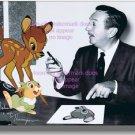 Original Voice Thumper Hand Signed Bambi 1942 Walt Disney NEW 8x10 photograph