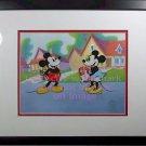 Mickey Minnie Sweethearts Sericel Cel Disney CoA Brand New Frame toon townn love