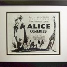 Walt Disney Hand Signed Alice Comedies 8x10 Frame Slient Movie Virginia davis
