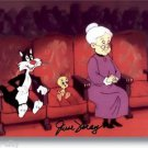 Granny Tweety & Sly Autographed VoIcE June Foray 8x10 inch photograph Warner Bro
