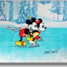 Signed MARC DAVIS Mickey Mouse Minnie Disney On Ice Sericel  FREE Background Cel