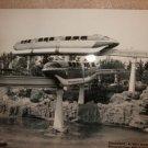 Disneyland Mark 1 Monorails Red & Blue FLEET circa 1959 Staged Press image