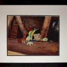 Pinocchio Jiminy Cricket Hand Signed Walt Disney Sericel Cel MARC DAVIS FREE B/G
