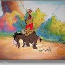 Winnie the Pooh Hand Signed Walt Disney Sericel Cel FREE background MARC DAVIS