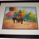 Winne the Pooh Hand Signed Walt Disney Sericel Cel FREE background MARC DAVIS