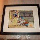 Snow White Seven Hand Signed Walt Disney Sericel Cel FREE background MARC DAVIS