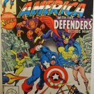 Captain America Defenders Marvel Comic Book hand signed STAN LEE 1982 April 25