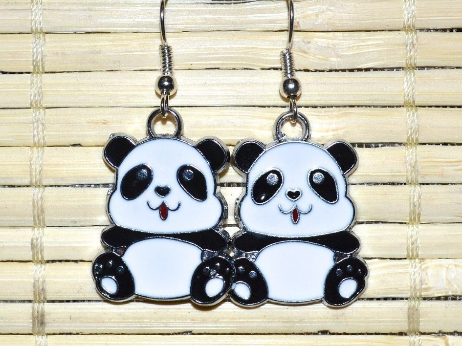 "Earrings ""Funny pandas"""