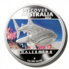 Whale Shark Silver Proof  $1 Coin Discover Australia Perth Mint  2012 Limited Ed