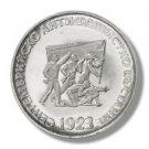 1973 Bulgaria Silver Proof  5 leva  coin 50th Anniversary Uprising KM# 83