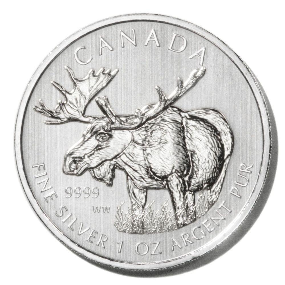 Canada Silver Moose $5 Coin 2012   1oz fine UNC  Ltd. Ed.  .9999