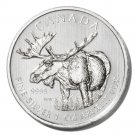 Canada Silver Moose $5 Coin 2012   1oz fine UNC  Ltd. Ed.  .9999