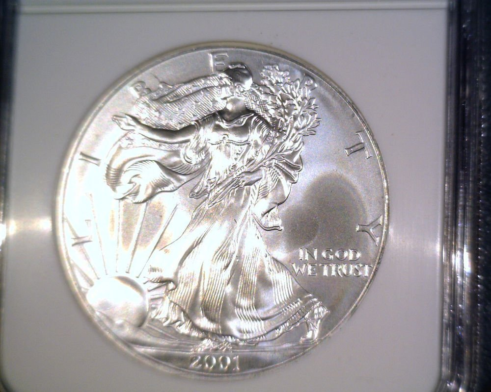 Silver American Eagle Bullion Coin 2001 NGC MS69 $1 One Full Ounce .999 fine