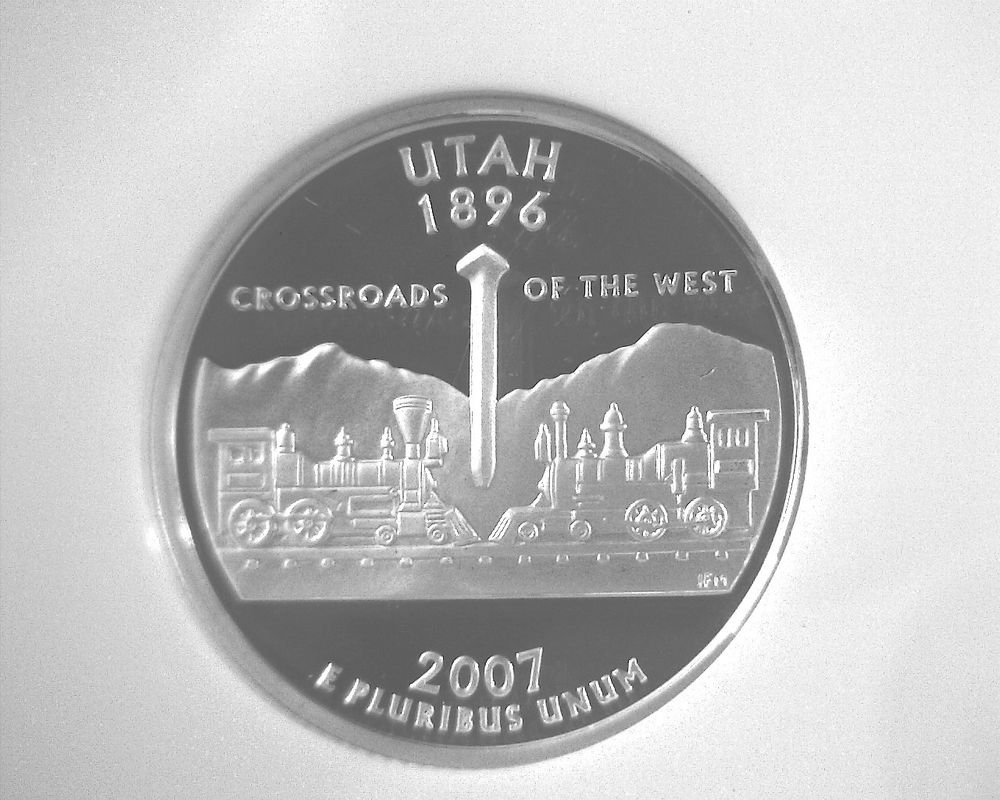 2007 S Silver Proof Utah State Quarter NGC PF70 Ultra Cameo Free US Ship