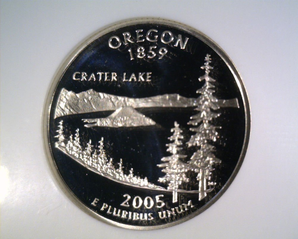 2005 S Silver Proof Oregon State Quarter NGC PF70 Ultra Cameo Free US Ship