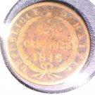 1846 Haiti 6 centimes coin KM#28