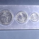 1977 US Coins Collector's Year Set 6 coins including Ike and Kennedy in Whitman