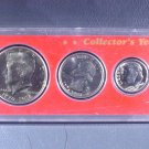 1976 US Coins Collector's Year Set 6 coins including Ike and Kennedy in Whitman