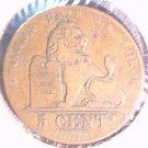 1842 Belgium 5 centimes coin  KM#5.1