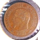 1855 A France 5 centimes coin KM#777.1 Napoleon III