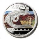 Goanna Silver Proof  $1 Coin  Discover Australia 2012 Perth Mint Limited Edition