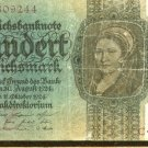 1924 Germany 100 Mark Note Pick #178  Weimar Republic
