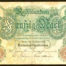 1906 Germany 50 Mark Note Pick #26  German Empire