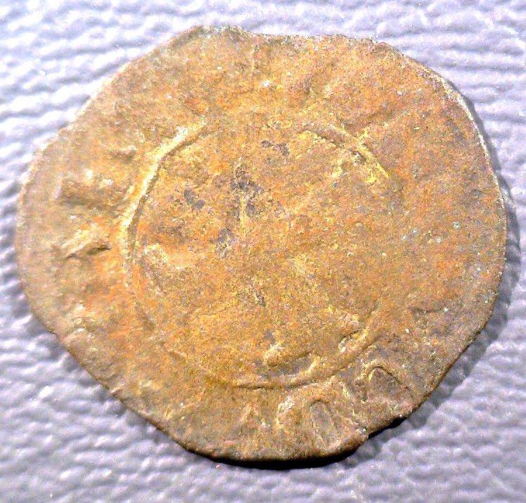 1368 Venetian Colonies 10 Resello Coin Italy