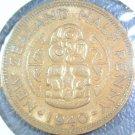 1940 New Zealand Half Penny KM# 12 Uncirculated