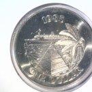 1985 Bermuda One Dollar Coin BU KM#43  Bermuda Buttery Cruise Ship Pyramid