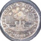 1830 S.L. Bolivia Silver 2 Soles Coin Potosi KM#95a   .1330 ASW