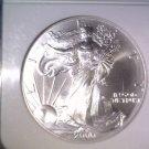 NGC MS69 US 2000 American Silver Eagle Bullion/Dollar    #E