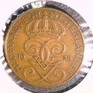 1930 Sweden 5 Ore coin KM#779.2