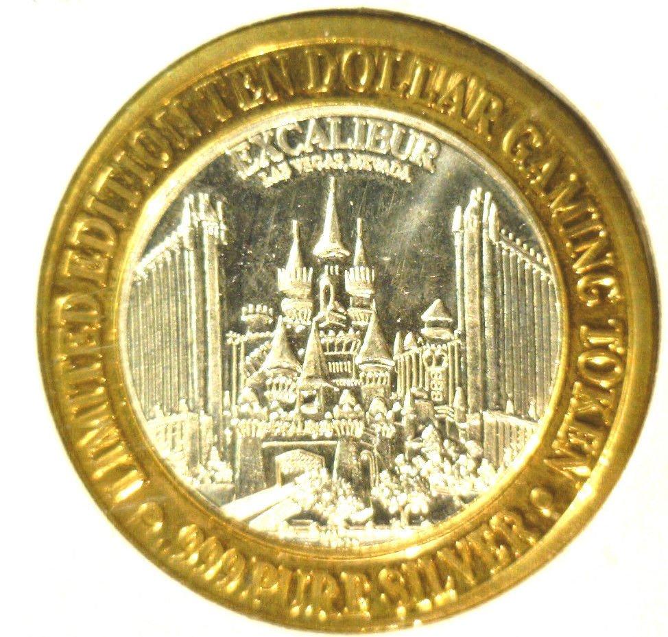 Excalibur Casino Silver $10 Gaming Token .999 fine Las Vegas Limited Edition
