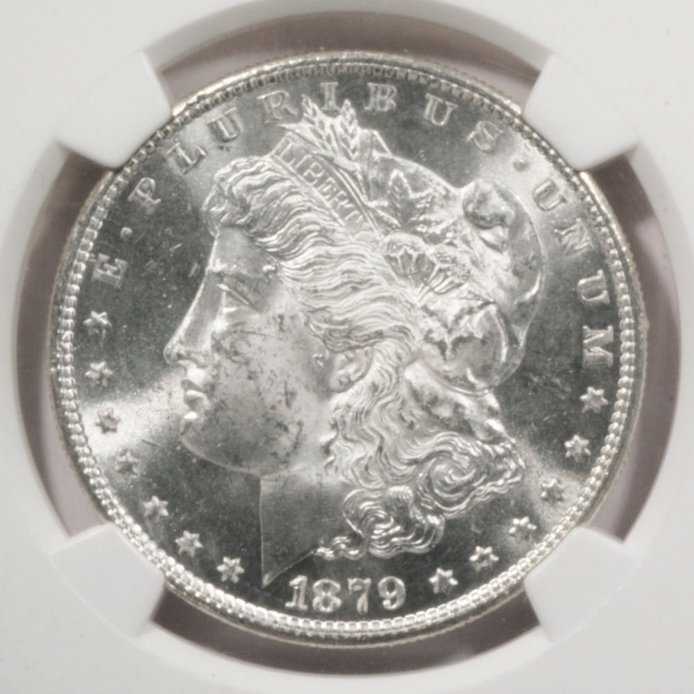 1879 S Morgan Silver Dollar  NGC MS63  LUSTER !