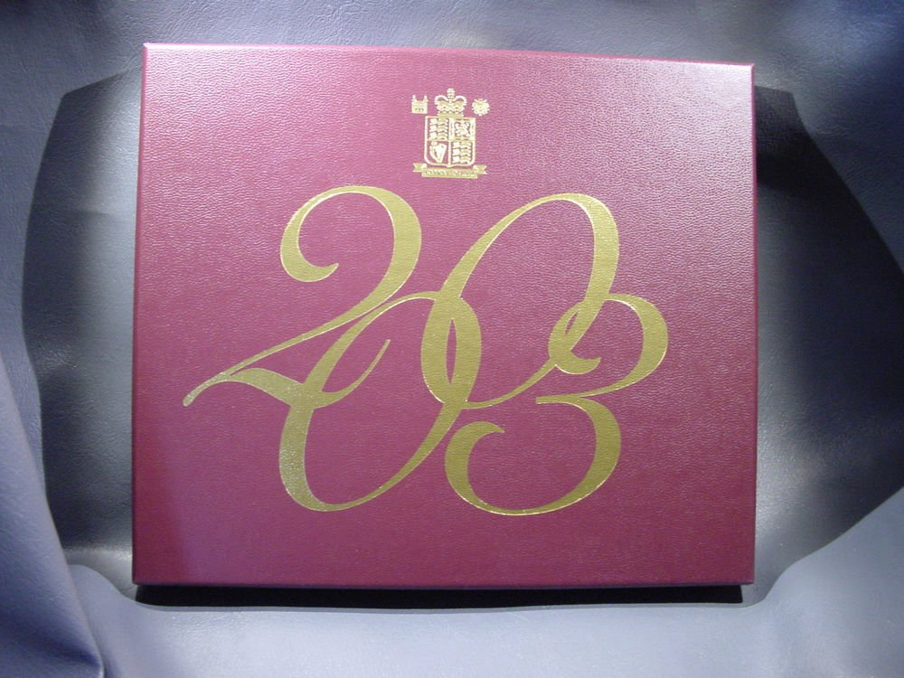 2003 United Kingdom Proof Set in Original Packaging with COA  KM#PS137
