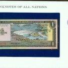 1977 El Salvador Un Colon  Note Pick#12a CRISP UNCIRCULATED ! In Sealed envelope
