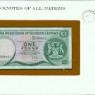 1981 Scotland One Pound note Pick#36a  CRISP UNCIRCULATED ! In Sealed Envelope